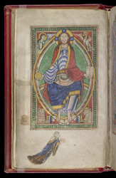 Christ in Majesty, in the 'Shaftesbury Psalter'